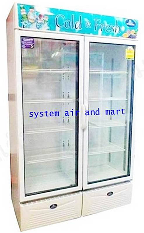 ตู้แช่เย็นกระจก 2 ประตู SPA-0903 N เบอร์ 5 SANDEN