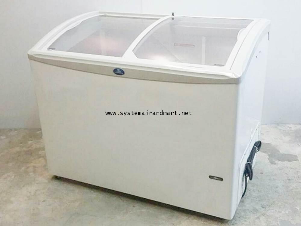 ตู้แช่แข็งกระจกบานเลื่อนโค้งSNC-0403N 1