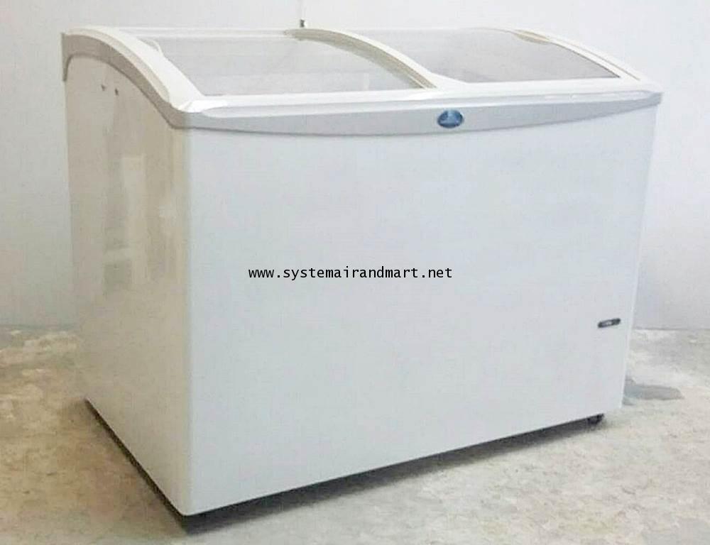 ตู้แช่แข็งกระจกบานเลื่อนโค้งSNC-0403N