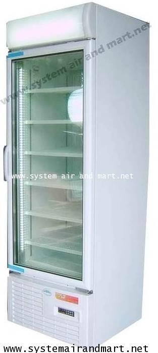 ตู้แช่แข็ง 1 ประตู กระจกมีฮิตเตอร์และหลอดไฟLED