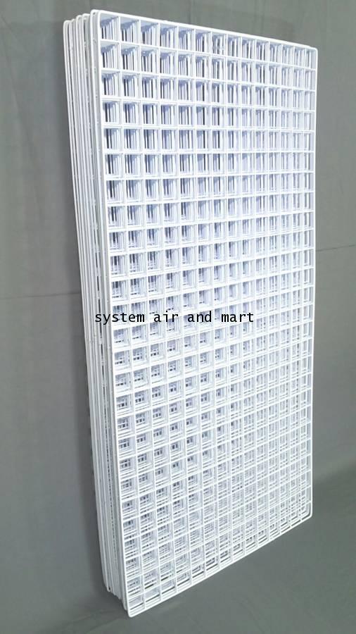 ตะแกรงชุบพลาสติก60x120ซม สีขาว/ดำโปรส่งฟรี 7