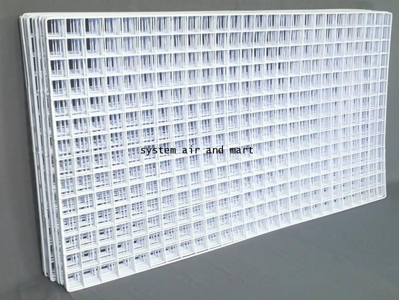 ตะแกรงชุบพลาสติก60x120ซม สีขาว/ดำโปรส่งฟรี 6