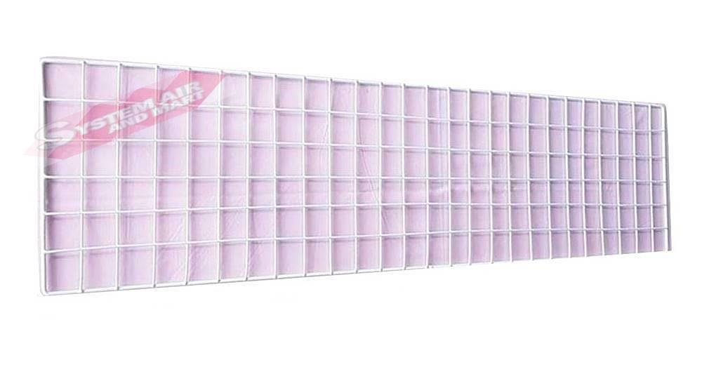 ตะแกรงชุบพลาสติก 27x102 ซม ดำ/ขาว 3