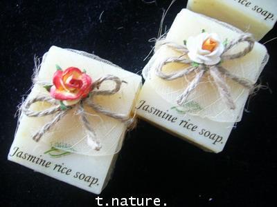 สบู่ข้าวหอมมะลิ  jasmine rice soap 2