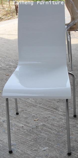 เก้าอี้สีขาว higegross
