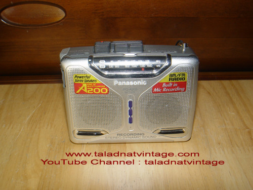 PANASONIC RQ-A200 Walkman Stereo ลำโพงในตัว อัดได้