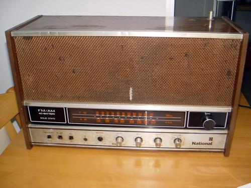 วิทยุโบราณ NATIONAL ตู้ไม้