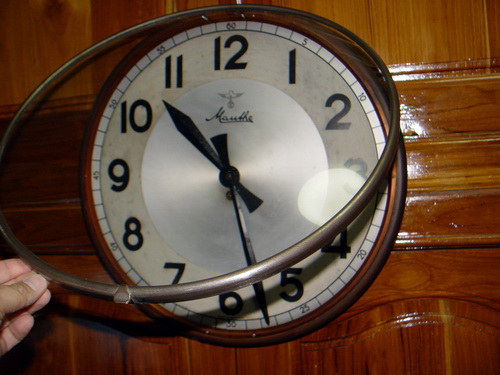 นาฬิกาแขวน MAUTHE มอร์เต้ ขนาด JUMBO 16 นิ้ว ระบบไขลาน 4