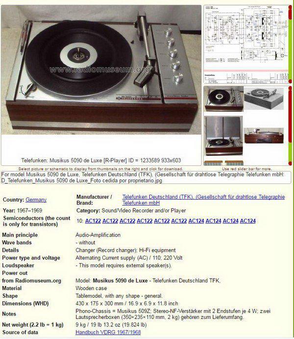 TELEFUNKEN Musikus 5090 8