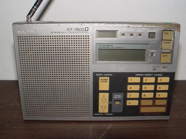 วิทยุคลื่นสั้น SONY ICF-7600D รับวิทยุ FM/AM/SW/LW