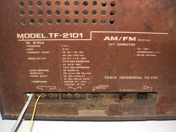 TANIN TF-2101 วิทยุ AM/FM 5