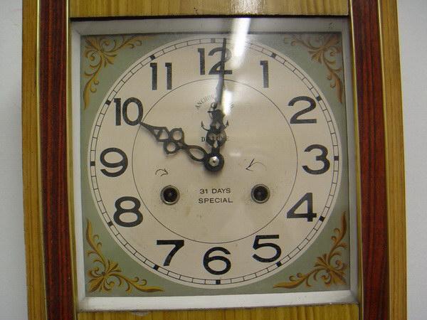 นาฬิกาแขวนลูกตุ้ม Steel Master (Anchor Brand)ตราสมอ 31 วัน 2ลาน 1