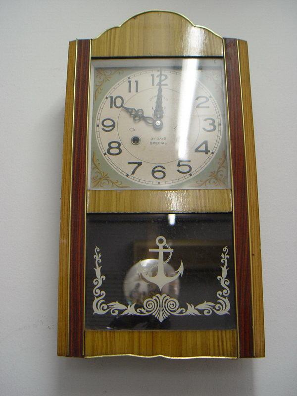 นาฬิกาแขวนลูกตุ้ม Steel Master (Anchor Brand)ตราสมอ 31 วัน 2ลาน 3