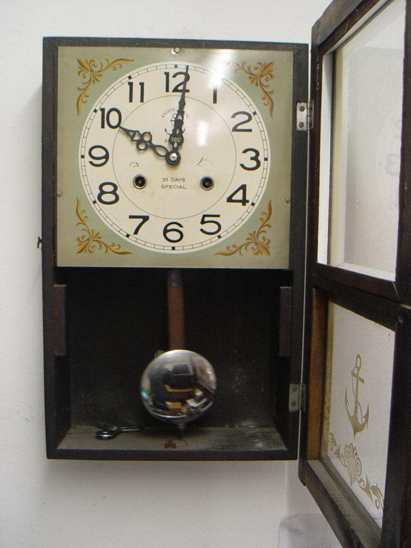 นาฬิกาแขวนลูกตุ้ม Steel Master (Anchor Brand)ตราสมอ 31 วัน 2ลาน 4