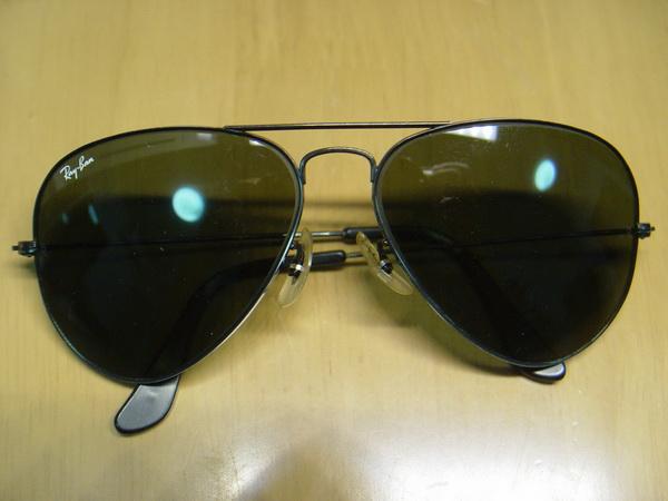 แว่น RayBan Aviator U.S.A. BL 58 มม. สิงห์ดำพร้อมเคสใส่แท้ สภาพสวยสุดๆเก่าเก็บ