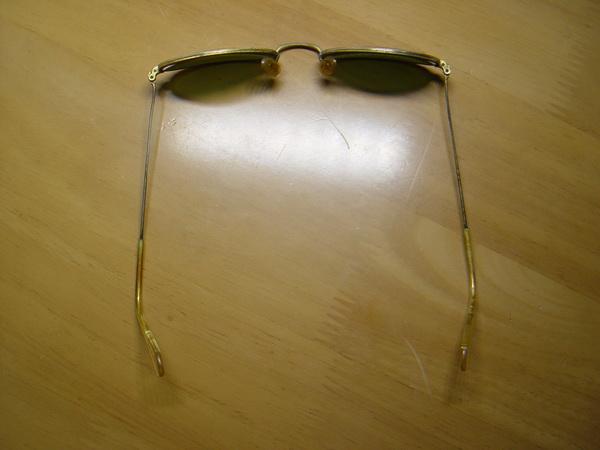 แว่นกันแดด RayBan ทรงรี U.S.A. BL 52 มม. เลนส์เขียวG15 สภาพดีมาก 3
