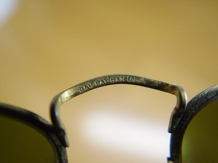 แว่นกันแดด RayBan ทรงรี U.S.A. BL 52 มม. เลนส์เขียวG15 สภาพดีมาก 5