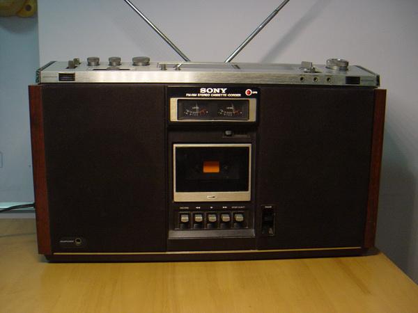 วิทยุวินเทจรุ่นใหญ่ SONY CF-590s ระบบStereo รุ่นท๊อปใช้งานได้ปกติ ระบเทปและวิทยุใช้ได้ดีมาก เสียงดี