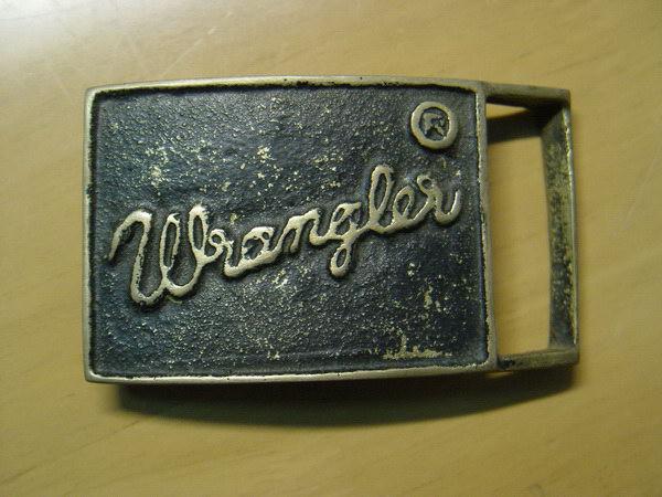 หัวเข็มขัดทองเหลืองแท้ Wrangler