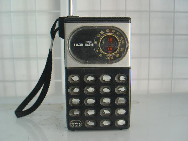 วิทยุวินเทจ SONY AM/FM ขนาดเล็กพกพา ใช้งานได้