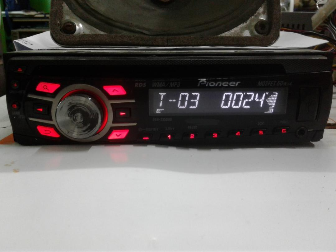 วิทยุรถยนต์ Pioneer DEH-235OUB Cd/Mp3/Radio/Aux/Usb ใช้งานได้ทุกฟังชั่น