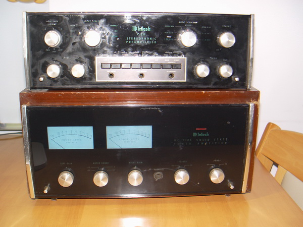 McIntosh MC 2105 Power Amp + McIntosh C28 Stereo Pre Amp Made in U.S.A.