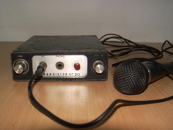 เครื่องขยายเสียงประกาศรถเร่โบราณ 20 Watt 4-16 Ohms ใช้งานได้ปกติ
