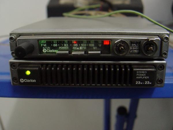 วิทยุรถยนต์ Clarion Amplifier+Tuner 23+23 Watt ใช้งานได้ปกติ เสียงดีมาก