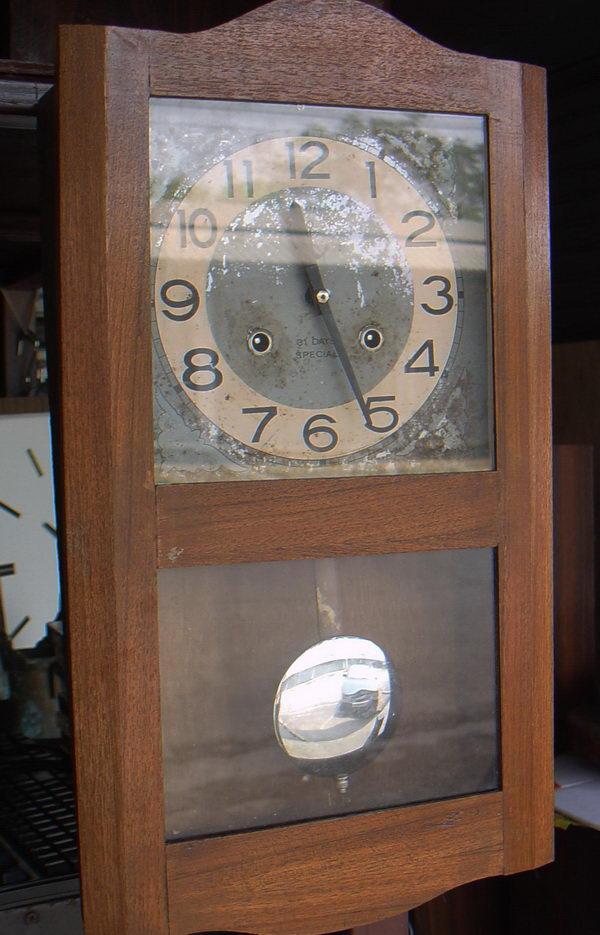 นาฬิกาลูกตุ้มไขลานตราสมอ Steel Master 31 วัน ใช้งานได้