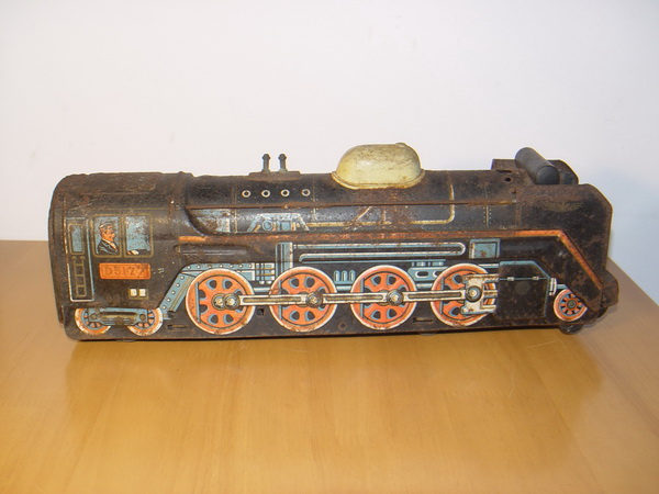 รถไฟของเล่นโบราณ สังกะสี Made in Japan