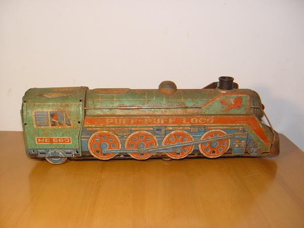 รถไฟของเล่นโบราณ งานสังกะสี 2