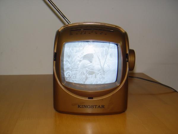 TV-RADIO ขาวดำขนาดเล็ก KINGSTAR รุ่น KTV-509 ใช้งานได้ปกติ