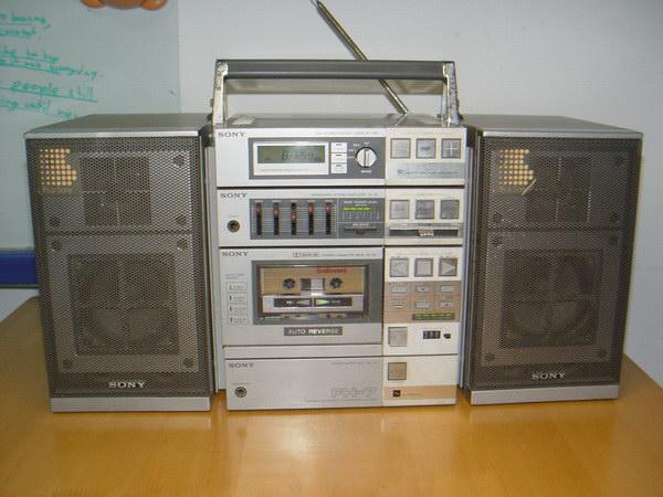 วิทยุ-เทป SONY FH-7 Compo รุ่นใหญ่โบราณ ใช้งานได้ปกติทั้งเทปและวิทยุ เสียงดีมาก ตัวใหญ่และหนัก