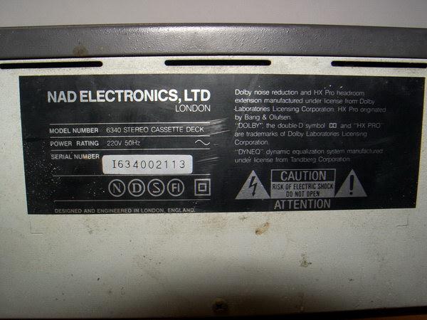 NAD 6340 Sterero Cassette Deck ขายเพื่อเป็นอะไหล่ หรือเอาไปซ่อม 5