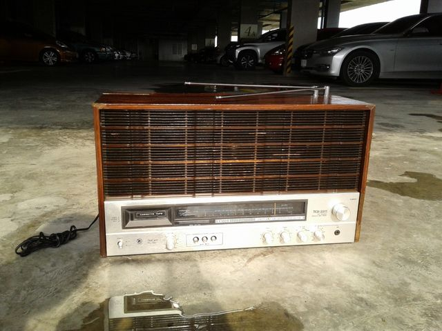 วิทยุโบราณรุ่นใหญ่ Tanin TCR-3322 ธานินทร์ วิทยุ-เทป ใช้งานได้ปกติ