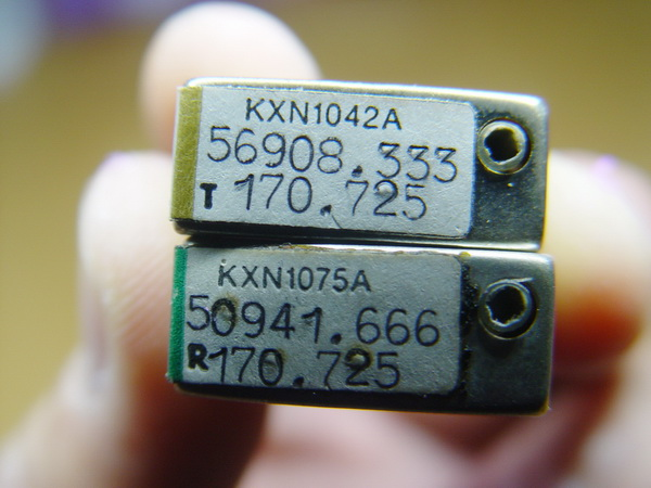 แร่ความถี่วิทยุสื่อสารโบราณ MOTOROLA 2คู่ความถี่ 2