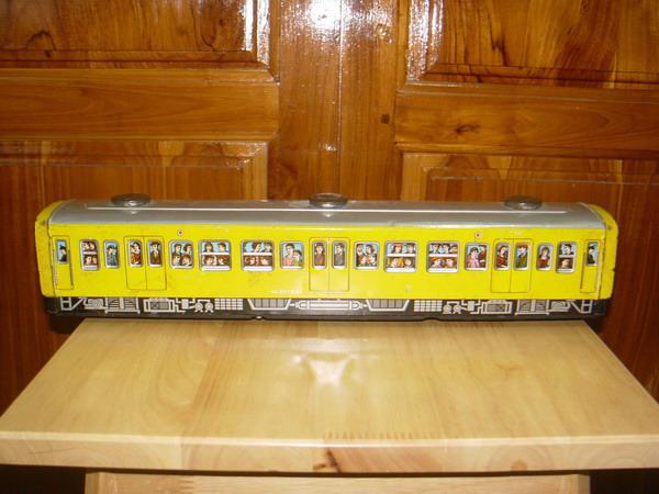 รถไฟสังกะสีคันใหญ่ JAPAN ของเล่นโบราณระบบลาน