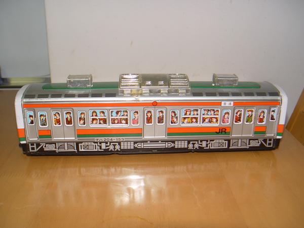 รถไฟสังกะสีคันใหญ่ ของเล่นโบราณ งานญี่ปุ่นแท้