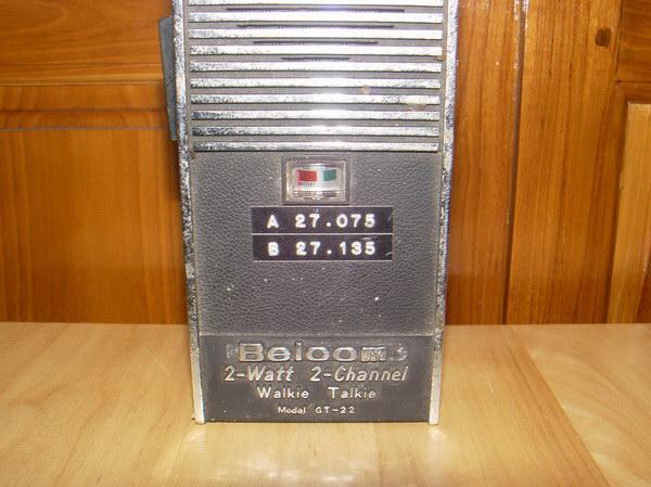 วอโบราณ Belcom GT-22 Walkie Talkie 2 Watt 2 CH สภาพโชว์ 1