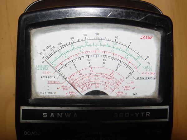 Meter SANWA 360-YTR โบราณ ญี่ปุ่นแท้ ใช้งานได้ปกตื 4
