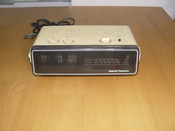 National-Panasonic วิทยุนาฬิกาแบบตัวเลขพับ