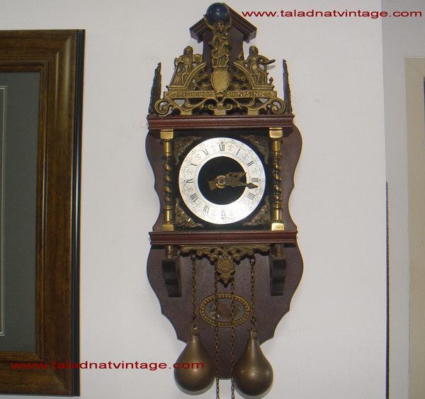 นาฬิกากระสือโบราณ ฮอลแลนด์ แบบสายชักตุ้มถ่วง 2 ลาน