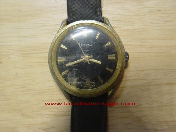 นาฬิกาโบราณ DOMI Swiss made ระบบไขลาน ใช้ได้ปกติ