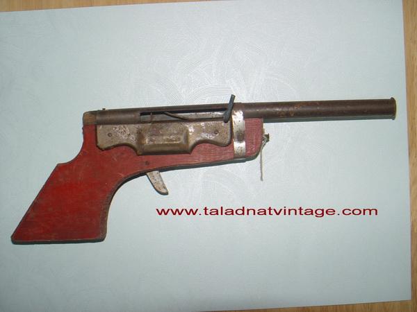 ปืนอัดลมไม้โบราณ ขายงานวัด ปืนสั้น ใช้งานได้ปกติ