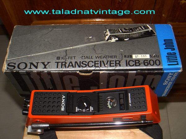 Vintage SONY ICB-600 วิทยุสื่อสาร CB 27 Mhz ใหม่เก่าเก็บ ใช้งานได้ปกติ