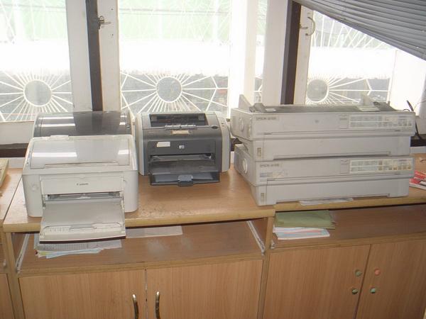 ขายเหมาหรือแยก Printer 17 ตัว Inkjet Laser Dot