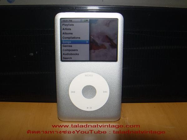 iPod Classic 160GB Gen 7 สีเงิน ใช้งานได้ปกติ เสียงดีมาก