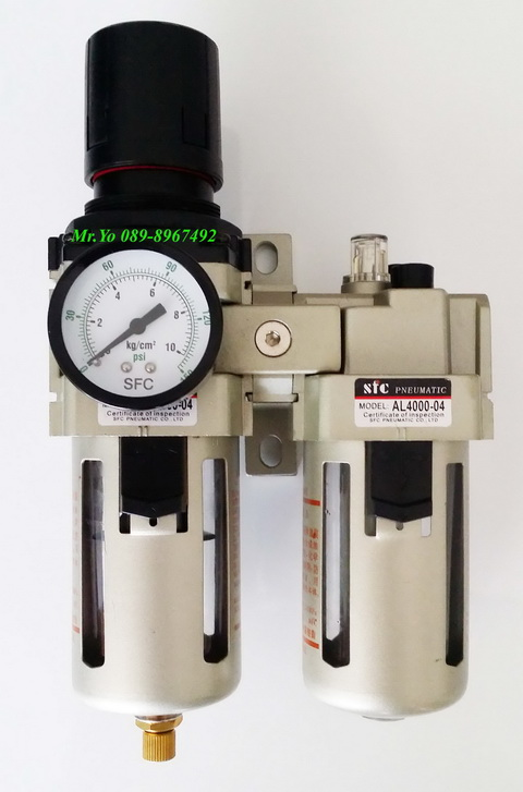 ชุดกรองลมปรับแรงดัน Filter Regulator  FR.L รุ่น AC4010-06