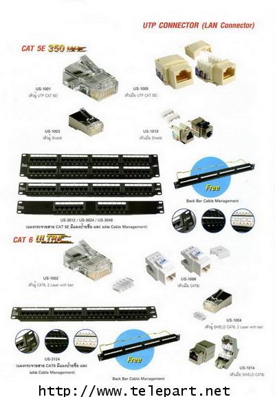 อุปกรณ์แลน CAT 6A RJ45 Modular Plug(ตัวผู้),seperrator technology