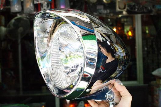 ไฟหน้า ชอปเปอร์ ทรงหัวกระสุน 7*6 นิ้ว Phantom Boss175 Chopper Head light set